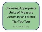 Choosing Appropriate Units of Measure (Customary and Metri