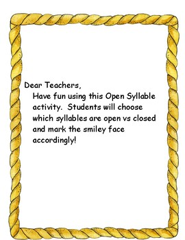Choosing Between Open and Closed Syllables
