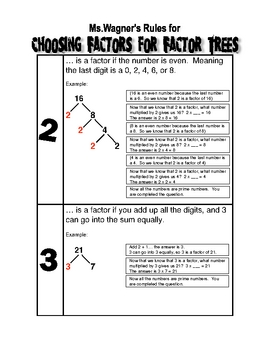 Choosing Factors for Factor Trees