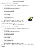 Choosing Golden Lines - Mini-Lesson & Handout