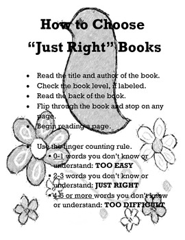 Choosing Just Right Books Poster