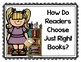 Choosing Just Right Books: Posters for Readers