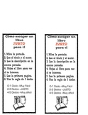 "Choosing ""Just Right"" books and 5 finger rule ----SPANISH"