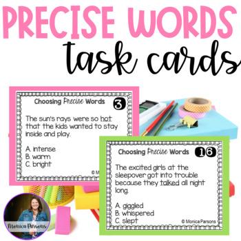 Choosing Precise Words Task Cards