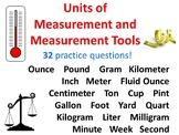 Choosing Unit of Measurement or Measurement Tool