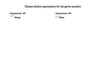 Choosing Weather Appropriate Clothing