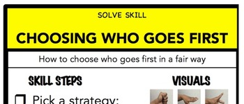 Choosing Who Goes First Social Skill Steps Poster - The Empower Program K-2