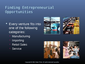 Choosing a Business Venture