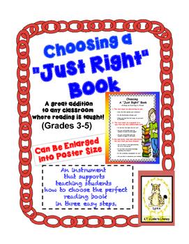 "Choosing a ""Just Right"" Book - Grades 3-5"