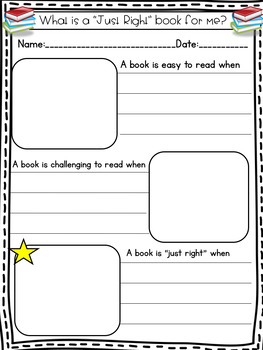 """""""Just Right"""" Book Reflection Sheet and Mini-Poster FREEBIE"""