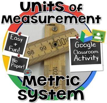 Choosing a Metric Unit of Measurement- GOOGLE CLASSROOM