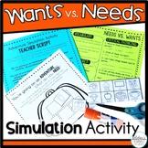 Choosing between Wants and Needs Adventure Simulation Activity