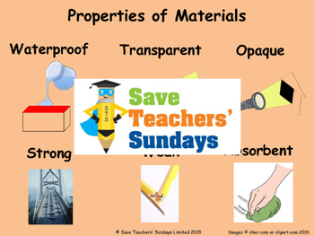 Choosing materials for different objects PowerPoint