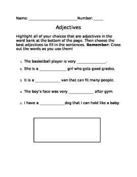 Choosing the Best Adjective