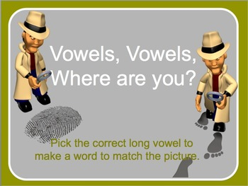 Choosing the Long Vowel interactive activity and worksheet.
