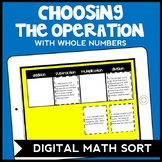 DIGITAL Choosing the Operation Game with Whole Numbers, Game for Google Drive