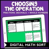 DIGITAL Choosing the Operation Sorting Game Bundle for Google Drive