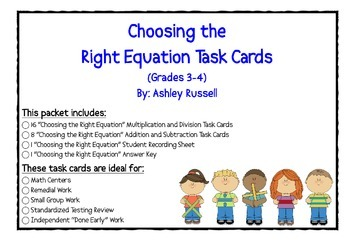 Choosing the Right Equation Task Cards