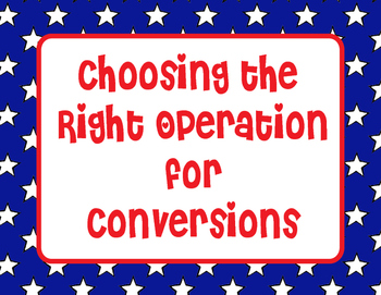 Choosing the Right Operation for Converting Measurements- Length TEKS 4.8