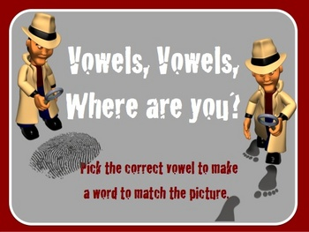Choosing the Short Vowel interactive activity and worksheet.