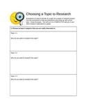 Choosing your Topic & Research Lesson PLan
