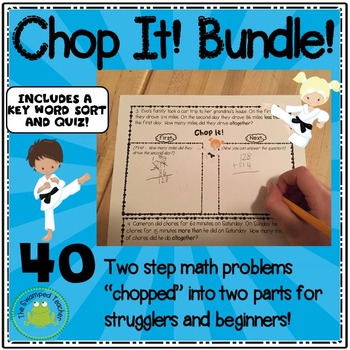 Two Step Word Problems Chopped in Two Parts for Strugglers- BUNDLE!