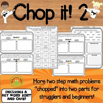 Two Step Word Problems - MORE Support for Strugglers & Beginners
