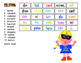Chopped up words! A Hallowe'en word puzzle