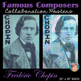 Chopin Collaboration Portrait Poster | Famous Musicians Series