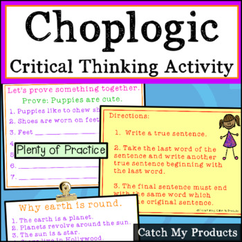 Critical Thinking Activities : Choplogic for the PROMETHEAN Board