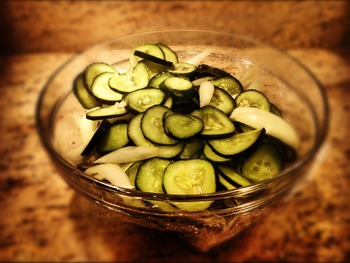 Chopped Cucumbers for Pickling IMAGE