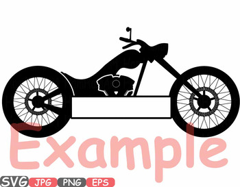 Choppers Monogram Motorbike clipart rock Motorcycle bike motor race RIDE 621s
