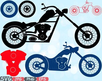 Choppers Monogram Motorbike clipart rock Motorcycle bike sign race RIDE 615s