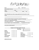 Choral Audition Form