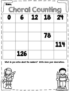 Choral Counting: Finding Number Patterns