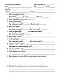 Choral Music Analysis Worksheet