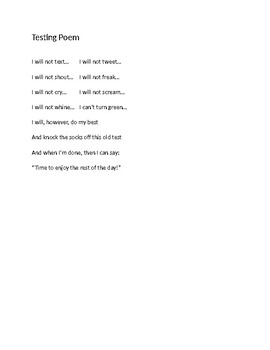 Choral Reading : Test Poem