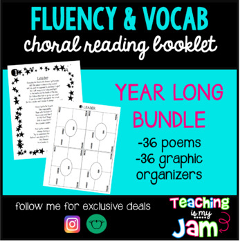 YEAR LONG 3rd Grade Choral Reading + Vocabulary Poem Book