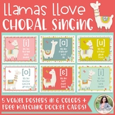 Choral Vowel IPA Posters: Llamas Llove Choral Singing! {Music Class Decor}