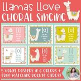 Choral Vowel IPA Posters: Llamas Llove Choral Singing! {Mu