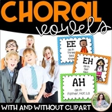 Choral Vowel Sounds Posters {Black & White + Rainbow Color
