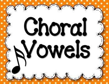 Choral Vowel Sounds Posters {Black & White + Rainbow Colors Polkadots}