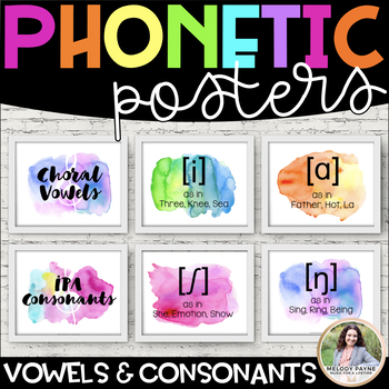 Choral Vowel Sounds Posters {IPA Watercolor Posters}
