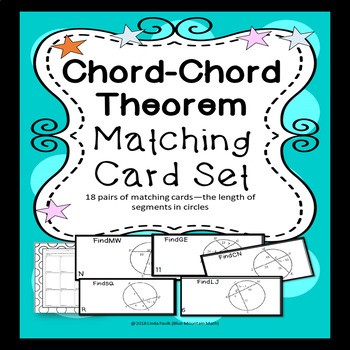 Chord-Chord Theorem Matching Card Set with Distractor Cards for Differentiation