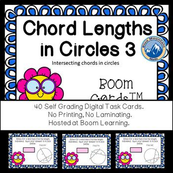 Chord Lengths Level 3 Boom Cards--Digital Task Cards