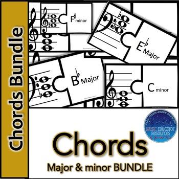 Chord Major & Minor Puzzle BUNDLE
