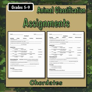 Chordates Teacher Notes & Assignments