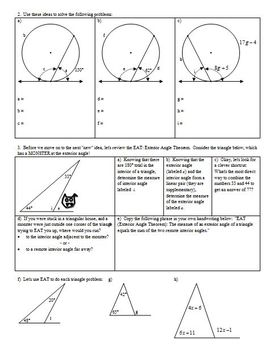Chords Tangents and Auxiliary Lines Spring 2013 (Editable)