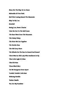 Chords and Lyrics for Sixty Best Campfire Songs!