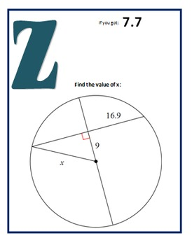 Chords in a Circle Scavenger Hunt